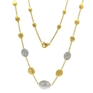 Marco Bicego Siviglia 18K Y Diamond Necklace